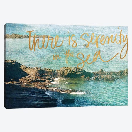 Serenity At The Sea Canvas Print #CPP8} by Anna Coppel Canvas Artwork