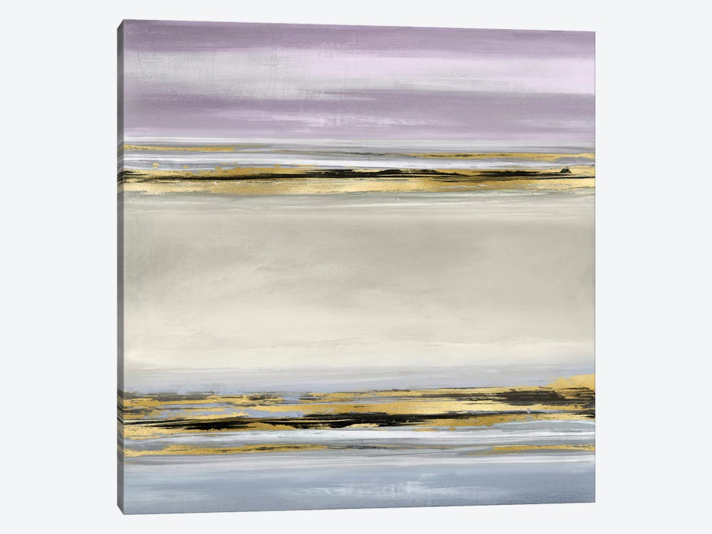 Linear Motion In Lavender by Allie Corbin 1-piece Canvas Print