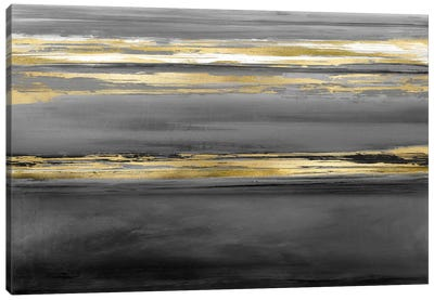 Parallel Lines At Midnight Canvas Art Print
