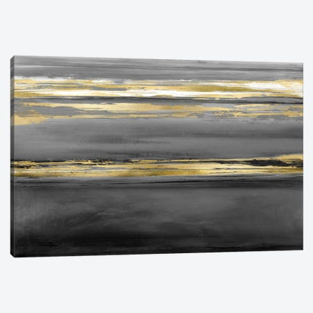 Parallel Lines At Midnight 3-Piece Canvas #CRB11} by Allie Corbin Canvas Art