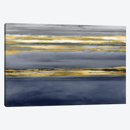 Parallel Lines Noir Canvas Print #CRB12} by Allie Corbin Canvas Art