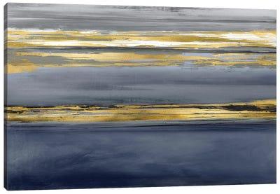 Parallel Lines Noir Canvas Art Print