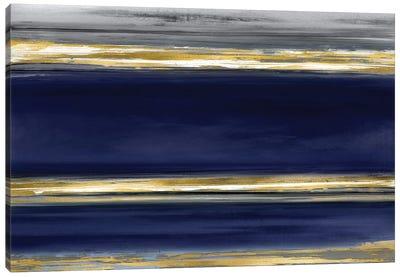 Parallel Lines On Indigo Canvas Art Print