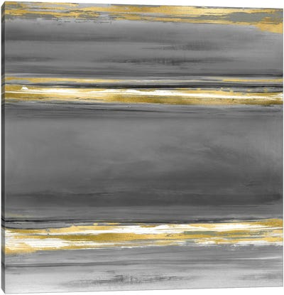 Parallels In Grey Canvas Art Print