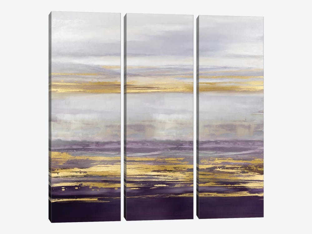 Amethyst Reflections I by Allie Corbin 3-piece Canvas Art