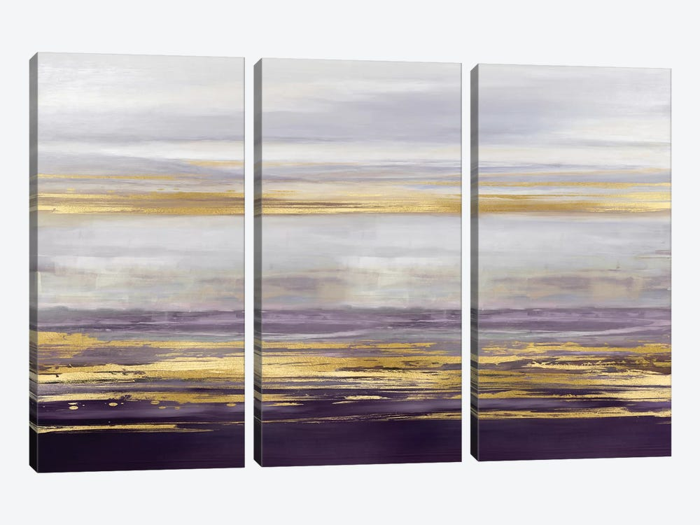 Amethyst Reflections II by Allie Corbin 3-piece Canvas Print