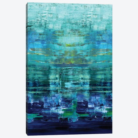 Aqua Reflections Canvas Print #CRB3} by Allie Corbin Art Print