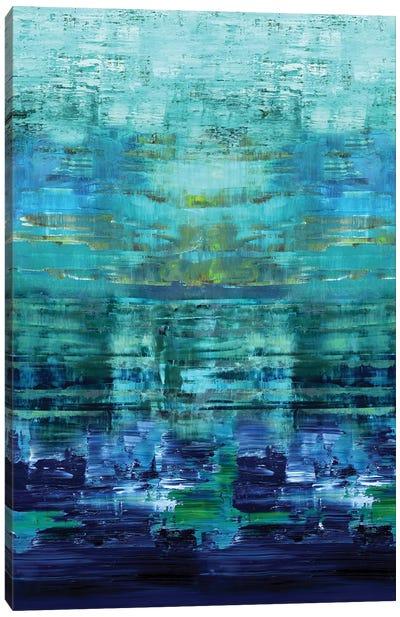 Aqua Reflections Canvas Art Print