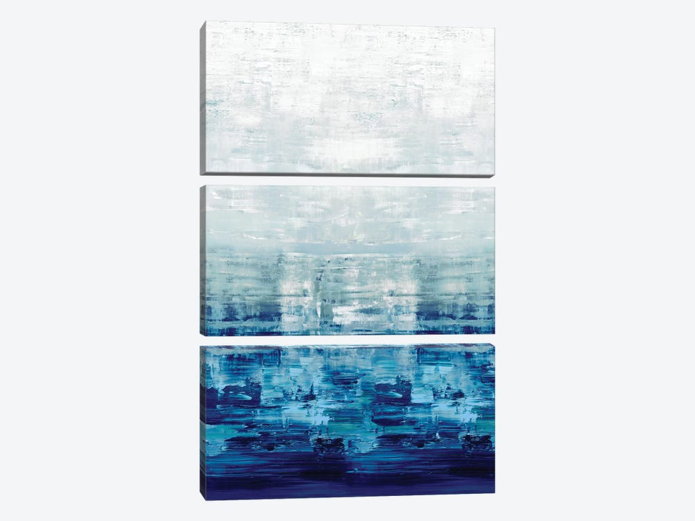 Blue Reflections by Allie Corbin 3-piece Art Print