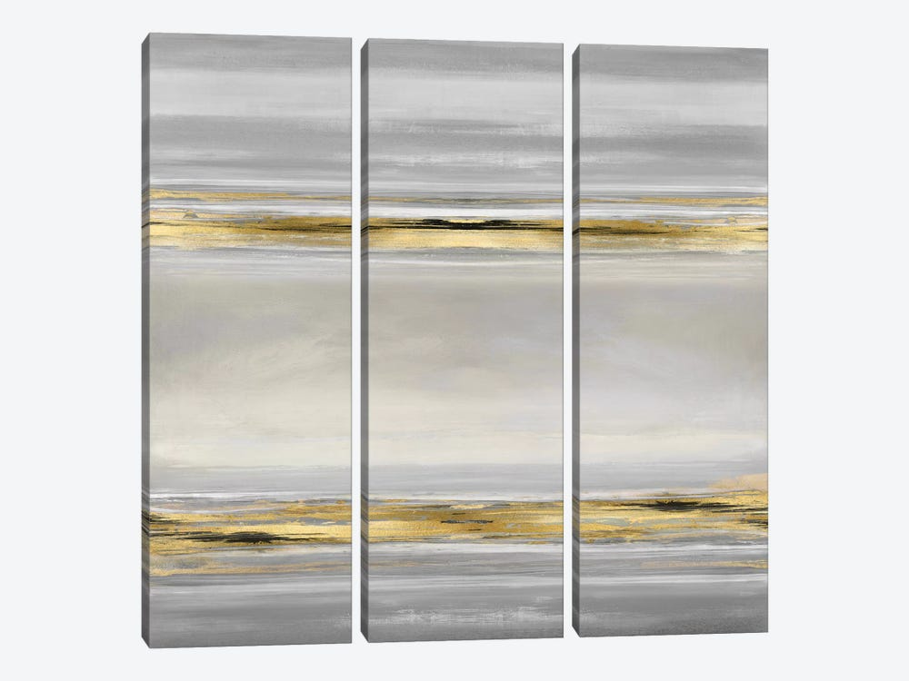 Linear Motion In Grey by Allie Corbin 3-piece Canvas Art