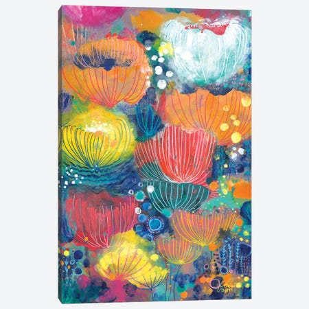 Song Of The Water Lilies Canvas Print #CRC11} by Corina Capri Art Print