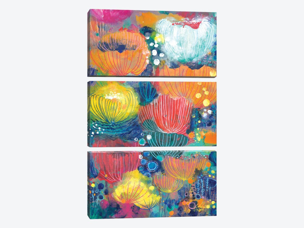 Song Of The Water Lilies by Corina Capri 3-piece Canvas Art Print
