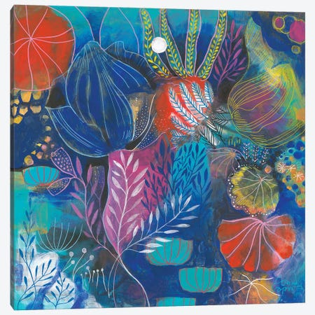 A Coral Song Canvas Print #CRC13} by Corina Capri Art Print