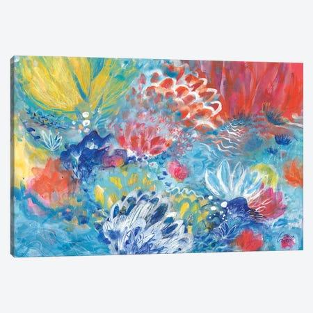 Lotus Rising Canvas Print #CRC1} by Corina Capri Canvas Artwork