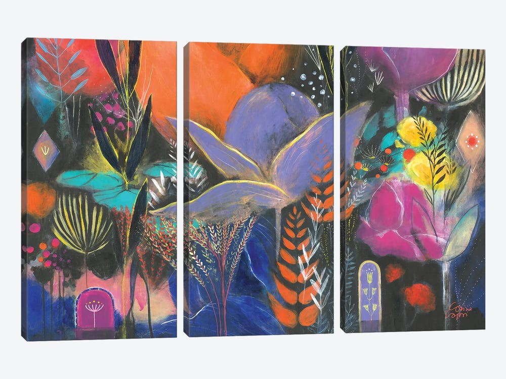 Mumbay Afternoon by Corina Capri 3-piece Canvas Print