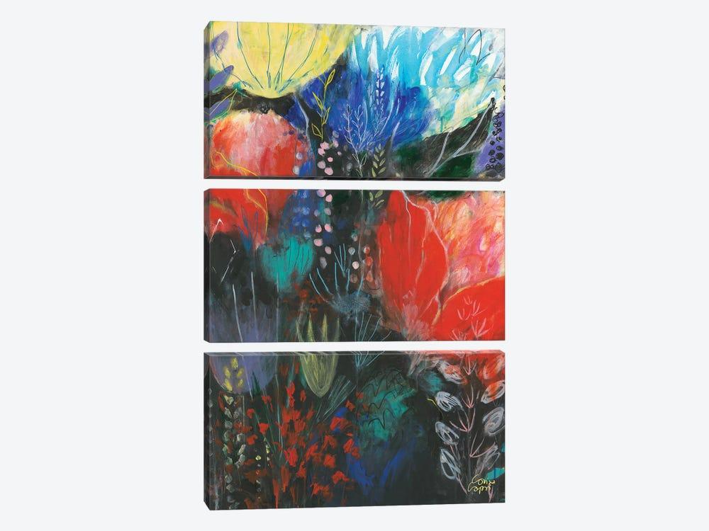 Nuit Rouge by Corina Capri 3-piece Canvas Art
