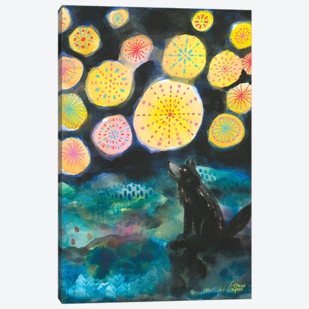 A Certain Darkness Is Needed To See The Stars Canvas Print #CRC25} by Corina Capri Canvas Print