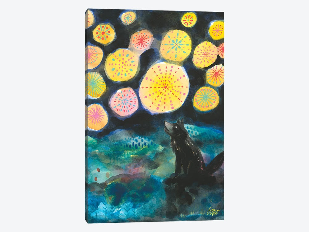 A Certain Darkness Is Needed To See The Stars by Corina Capri 1-piece Canvas Art