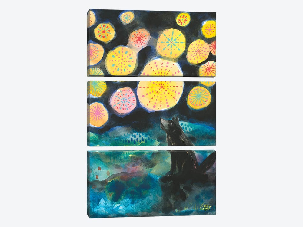A Certain Darkness Is Needed To See The Stars by Corina Capri 3-piece Canvas Artwork