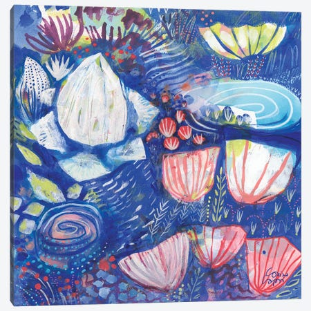 A Coral Song II Canvas Print #CRC26} by Corina Capri Art Print
