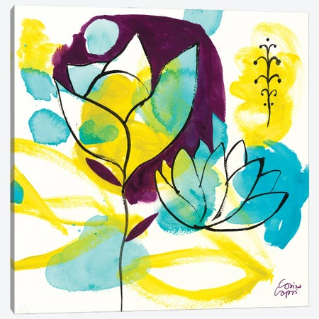 Play Of Water Lilies Canvas Print #CRC27} by Corina Capri Art Print