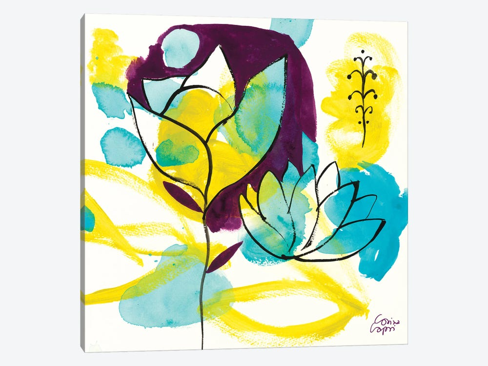 Play Of Water Lilies by Corina Capri 1-piece Canvas Wall Art
