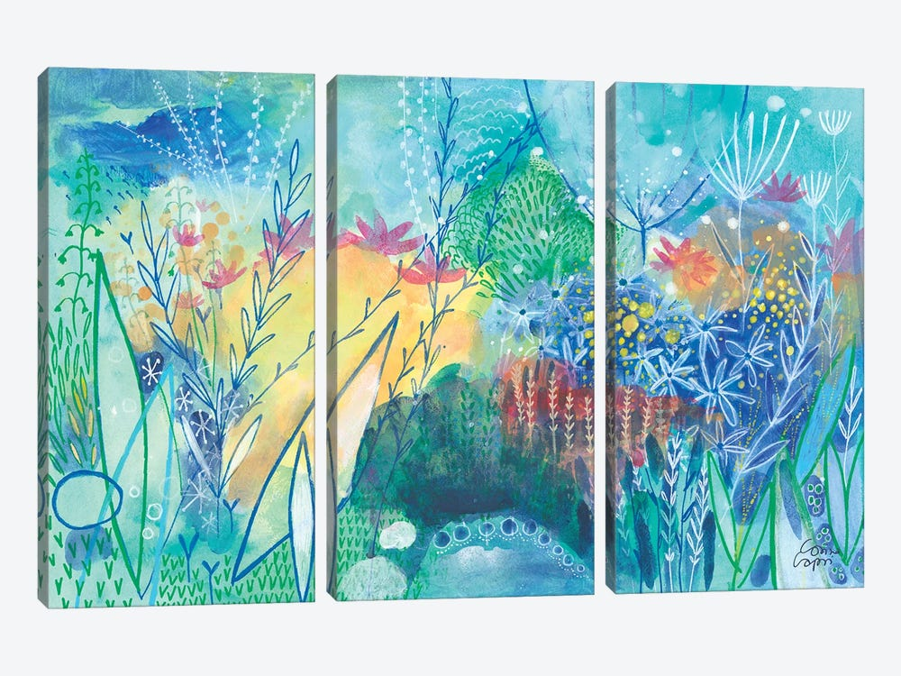 First Day Of Spring by Corina Capri 3-piece Canvas Wall Art