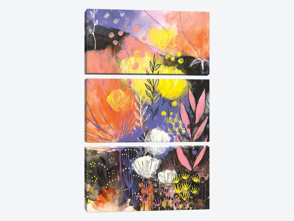 Disco Garden by Corina Capri 3-piece Art Print
