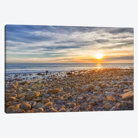 USA, California, Malibu. Sunset as seen from County Line Beach. Canvas Print #CRD1} by Christopher Reed Art Print