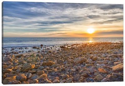 USA, California, Malibu. Sunset as seen from County Line Beach. Canvas Art Print