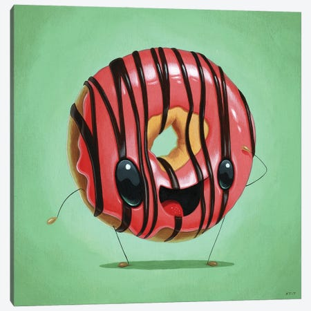 Strawberry Jam Canvas Print #CRG103} by Cuddly Rigor Mortis Art Print
