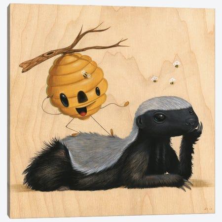 Don't Call Me Honey Canvas Print #CRG21} by Cuddly Rigor Mortis Canvas Artwork