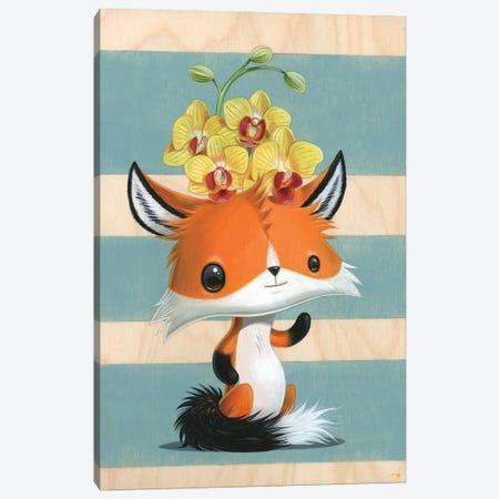 Foxy Canvas Print #CRG33} by Cuddly Rigor Mortis Art Print