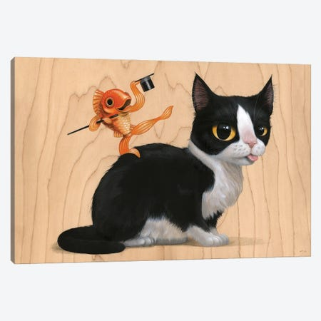 Fred And Ginger Canvas Print #CRG35} by Cuddly Rigor Mortis Canvas Wall Art