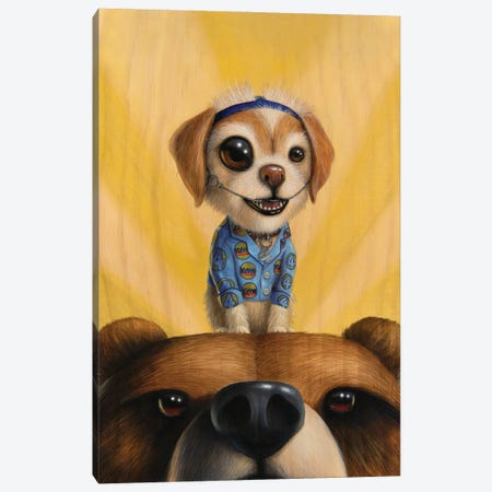 Friend Of The Bears Canvas Print #CRG36} by Cuddly Rigor Mortis Canvas Art