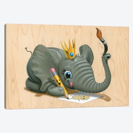 King Kreate Canvas Print #CRG55} by Cuddly Rigor Mortis Canvas Art