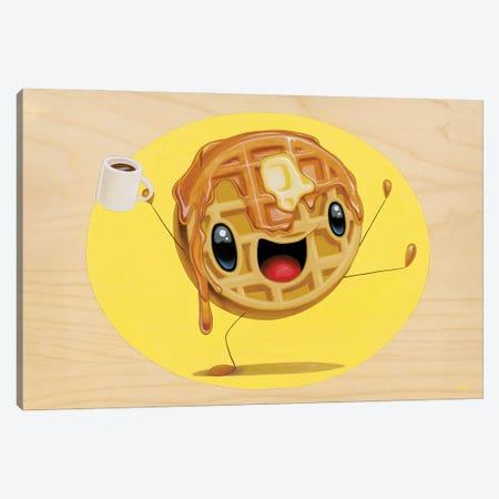 Mr. Good Morning Waffle Canvas Print #CRG72} by Cuddly Rigor Mortis Canvas Art Print