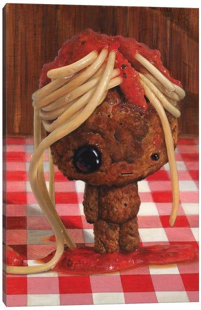 My Poor Meatball Canvas Art Print