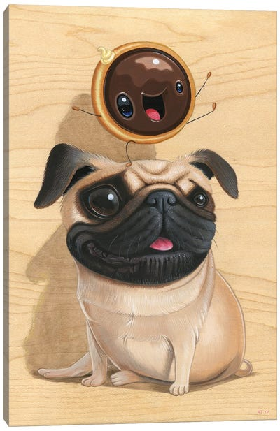 Puggy & Dunky Canvas Art Print