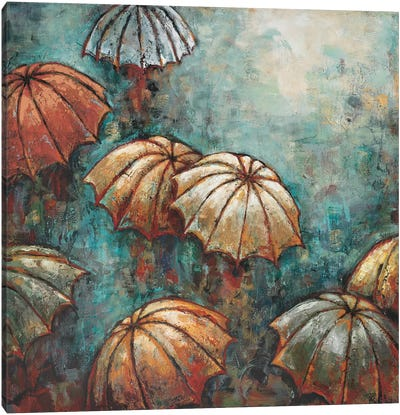 Umbrellas Canvas Art Print