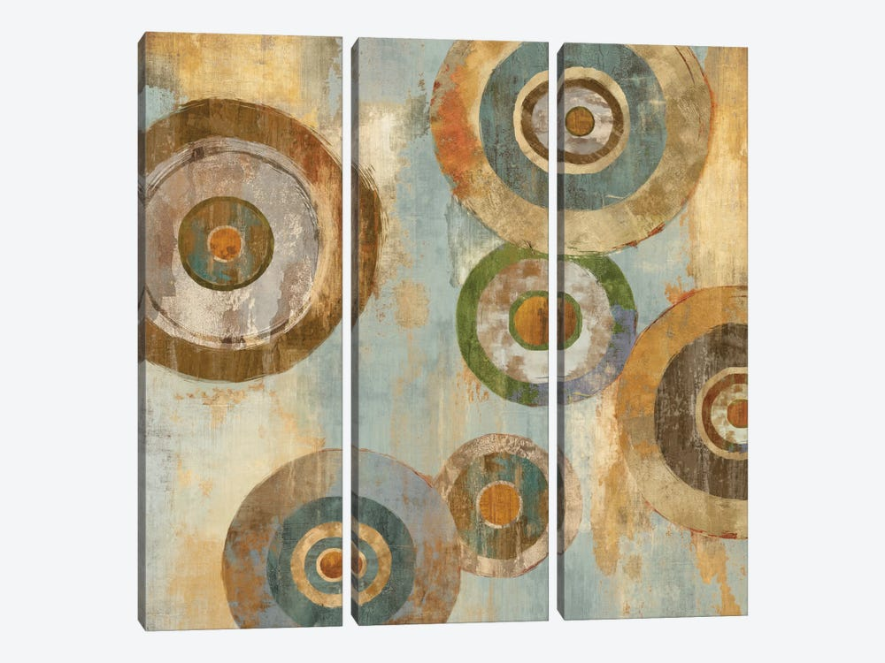 In The Round I by Cam Richards 3-piece Canvas Wall Art