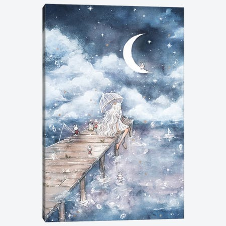 In The Clouds Canvas Print #CRK16} by Cherriuki Canvas Artwork