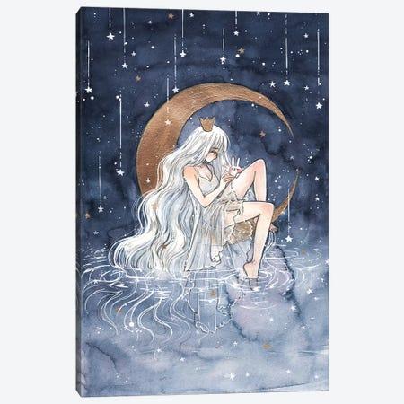 La Lune Canvas Print #CRK18} by Cherriuki Canvas Art Print