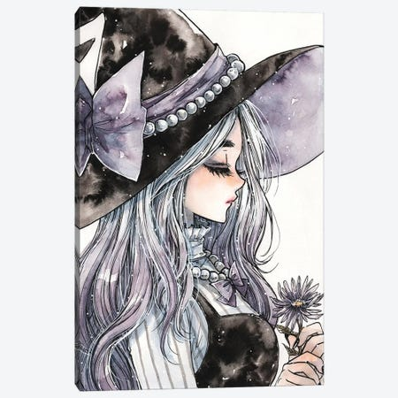 Lavender Witch Canvas Print #CRK20} by Cherriuki Canvas Wall Art