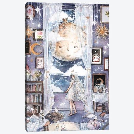 Moon Lullably Canvas Print #CRK21} by Cherriuki Canvas Wall Art