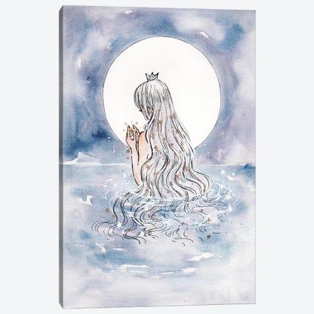 Moon Shine Canvas Print #CRK22} by Cherriuki Canvas Artwork