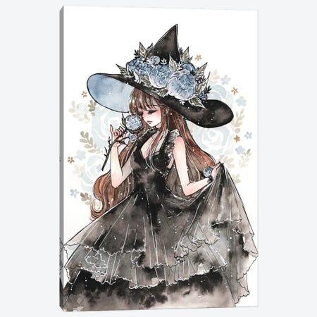 Peony Witch Canvas Print #CRK26} by Cherriuki Art Print