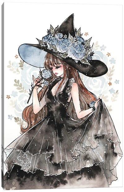 Peony Witch Canvas Art Print
