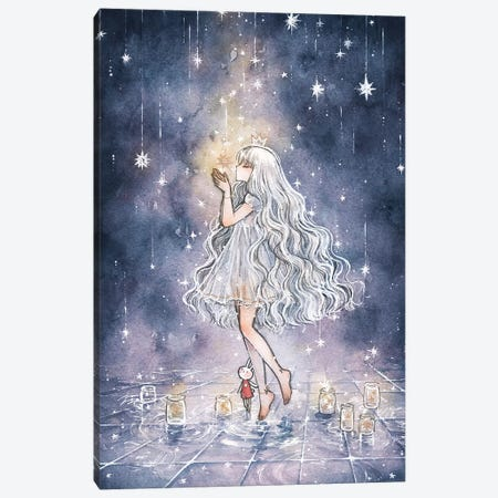 She Who Watches Over The Stars Canvas Print #CRK27} by Cherriuki Canvas Art Print