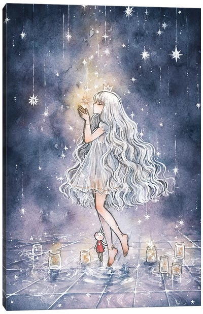 She Who Watches Over The Stars Canvas Art Print